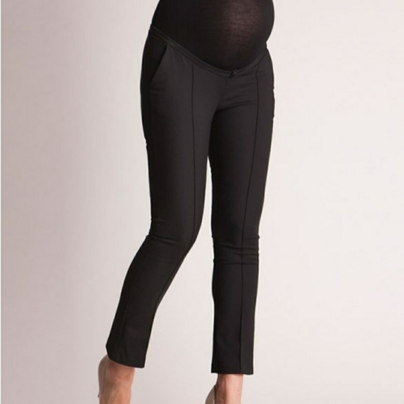 Seraphine Tailored Black Cropped Maternity Pants